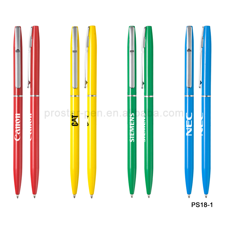 2015 patent manufacturer slim metal hotel pen for international brand hotel