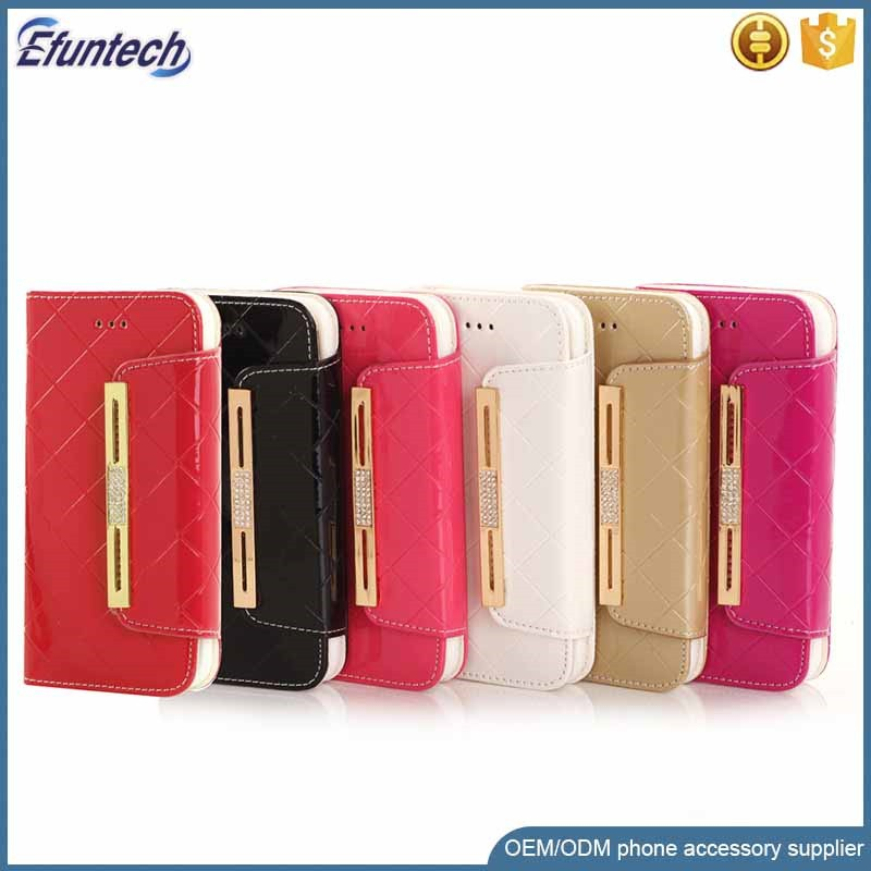 Lady hand bag pouch PU leather mobile phone cover for iphone 7 plus