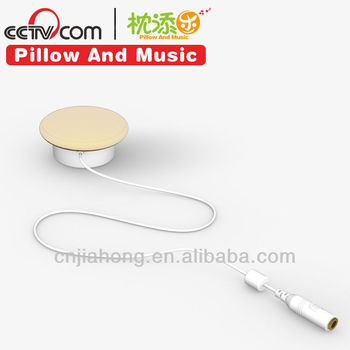 plastic stereo pillow speaker with separating cable for music pillow,cushion, toy, etc CE SGS ROHS PATENT