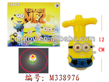 Magic despicable me spinning top with music and light, flashing toy,promotion toys