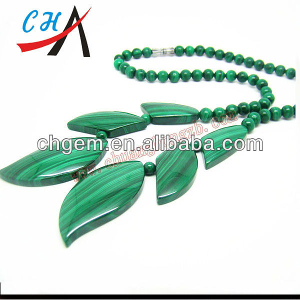 price of semi precious gemstone malachite necklace jewlery