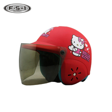 DOT approved ABS material red color kids open face helmets decal child full face helmet motorcycle