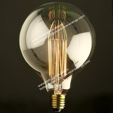 most popular europe product 2300K dimmable g125 filament edison bulb/vintage edison globe bulb