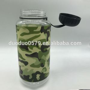 BS-4005 1 L camouflage drink plastic bottle military water canteen