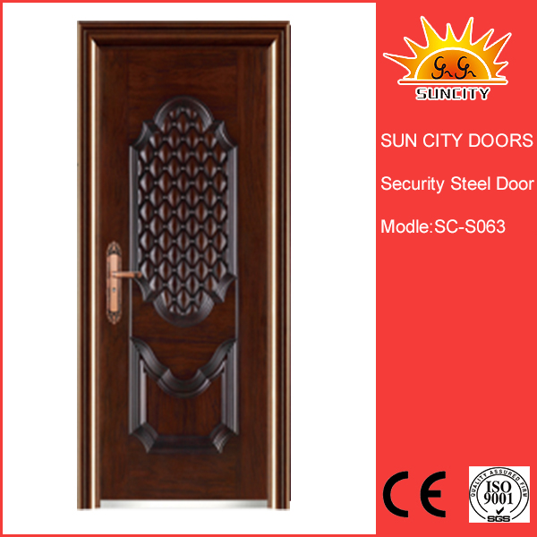 Solid Compound Door steel doors with glass SC-S063