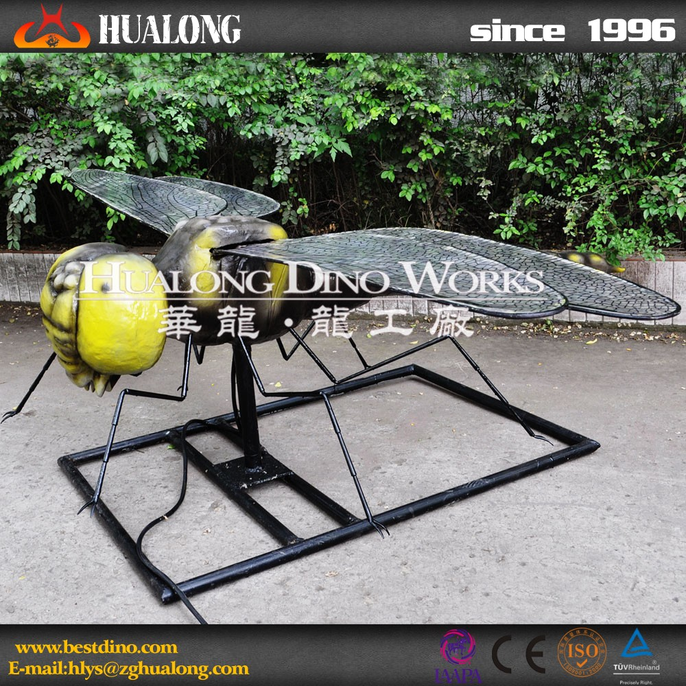 Amusement park high simulation mechanical animatronic insects