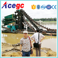 Gold bucket chain diging&dredging dredger for sale