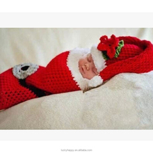 Newborn Baby Hat Outfits Photography Props crochet Christmas Costume