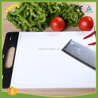 6621 Kitchen Plastic Red and Black Chopping Board Cutting Block With Hander