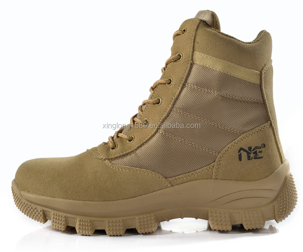 2017 New design Combat boots Khaki color for policeman