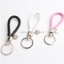 EL-A- 27 braide leather keychain,handmade woven leather keyring,fashion hanging accessories jewelry,promotional