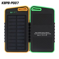 2016 new product portable solar charger emergency mobile phone solar power bank 5000 mAh