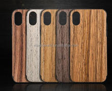 2017 New Design Full Protective Wooden Tpu Phone Case For Iphone X