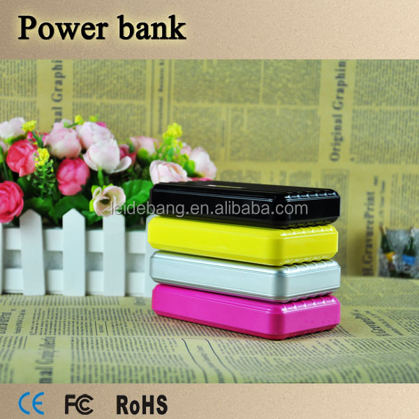 2016 New power bank brand top sale high quality 2 usb Power supply rechargeable portable mobile power bank 15000mah OEM