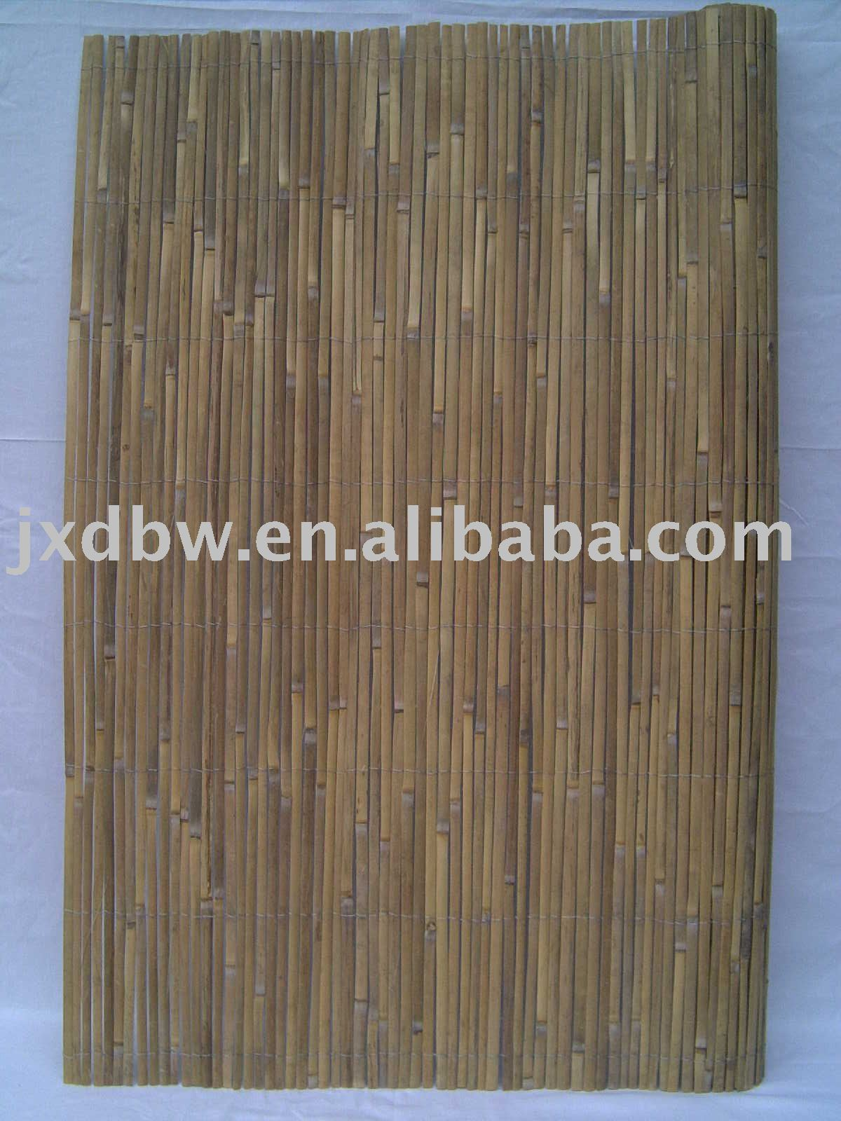 Gavalnized Wire Woven Bamboo Stake Screen Fence