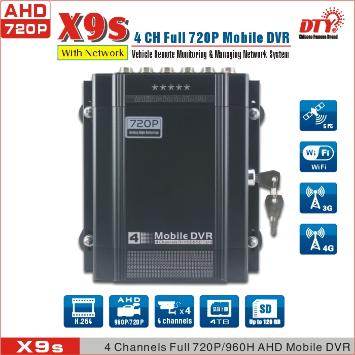 4G lte gps AHD 720P HDD <strong>DVR</strong> recorder ,CE FCC RoHS car black box ahd mobile <strong>dvr</strong>, X9s(4G&GPS)