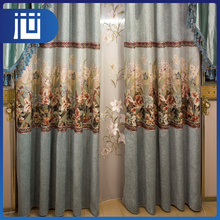 Wholesale cheap price embroidered custom jacquard window curtains for room