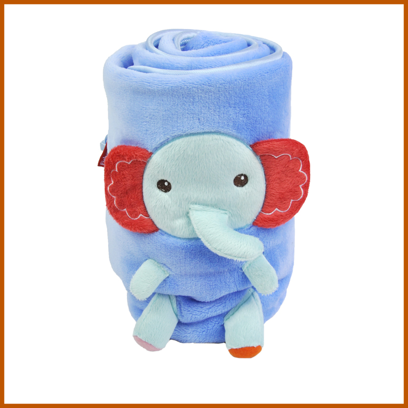 Elephant Pattern Coral Fleece Blanket For Baby