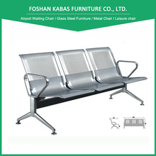 Airport stainless steel seating bench Long link airport bench waiting room bench