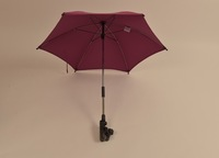 custom beautiful purple Metal Frame With Clip Hand Baby Car Umbrella