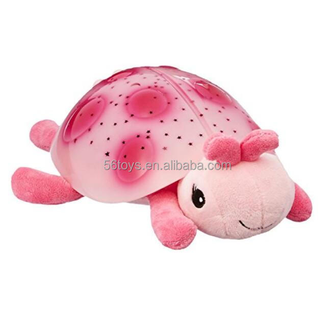 Starry Night Projector Plush toys Plush Toy Pink Ladybug Star Projector