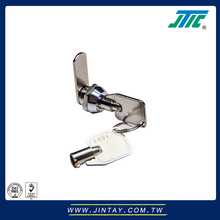 Stain chrome plated standard tubular key cabinet cam lock