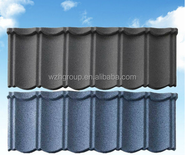 cheap colorful stone coated metal roofing tile