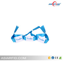 Factory Price LF TK4100 Chip Woven Fabric Festival RFID Wristband