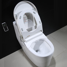 new design beautiful intelligent electric heated automatic operation flush cleaning hygienic sanitary pp toilet seat