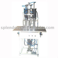 BS-8005 Semiautomatic aerosol 3 in 1 filling machine