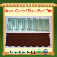 NOSEN stone chip coated roof tile sand coated metal roof