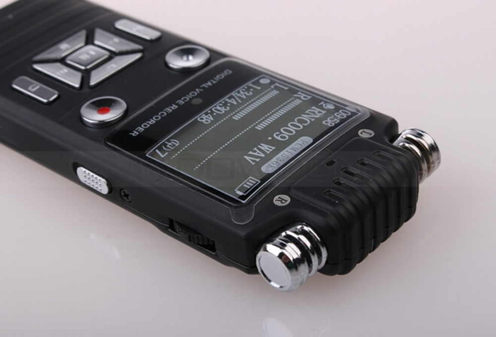 1536Kbps MP3 Recording Bit Digital Audio Voice Recorder 8GB USB Voice Recorder With LCD Screen