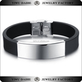 Daihe Custom Blank Stainless Steel Silicone Energy Bracelet For Men