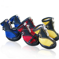 Excellent quality low price pet air mesh summer boots pet flat sole shoes for dog
