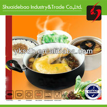 Aluminum non-stick ceramic casserole with stand