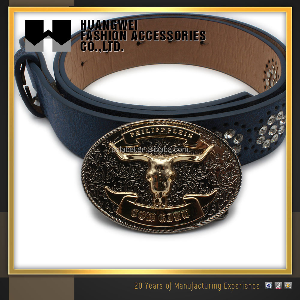 High Quality lovely Bull Head Two piece belt buckle