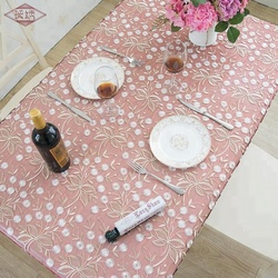LongShow factory wholesale high quality disposable plain style handmade organdy embroidery lace trim table cover