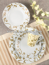 Factroy direct sale porcelian dinner set with logo
