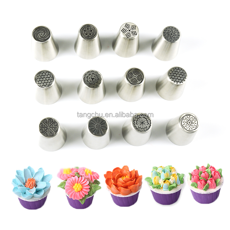 12pcs/Set Merry Christmas Best Sale New Products Innovative Russian Modeling Decorating Tools Pastry Nozzles Tip Cake
