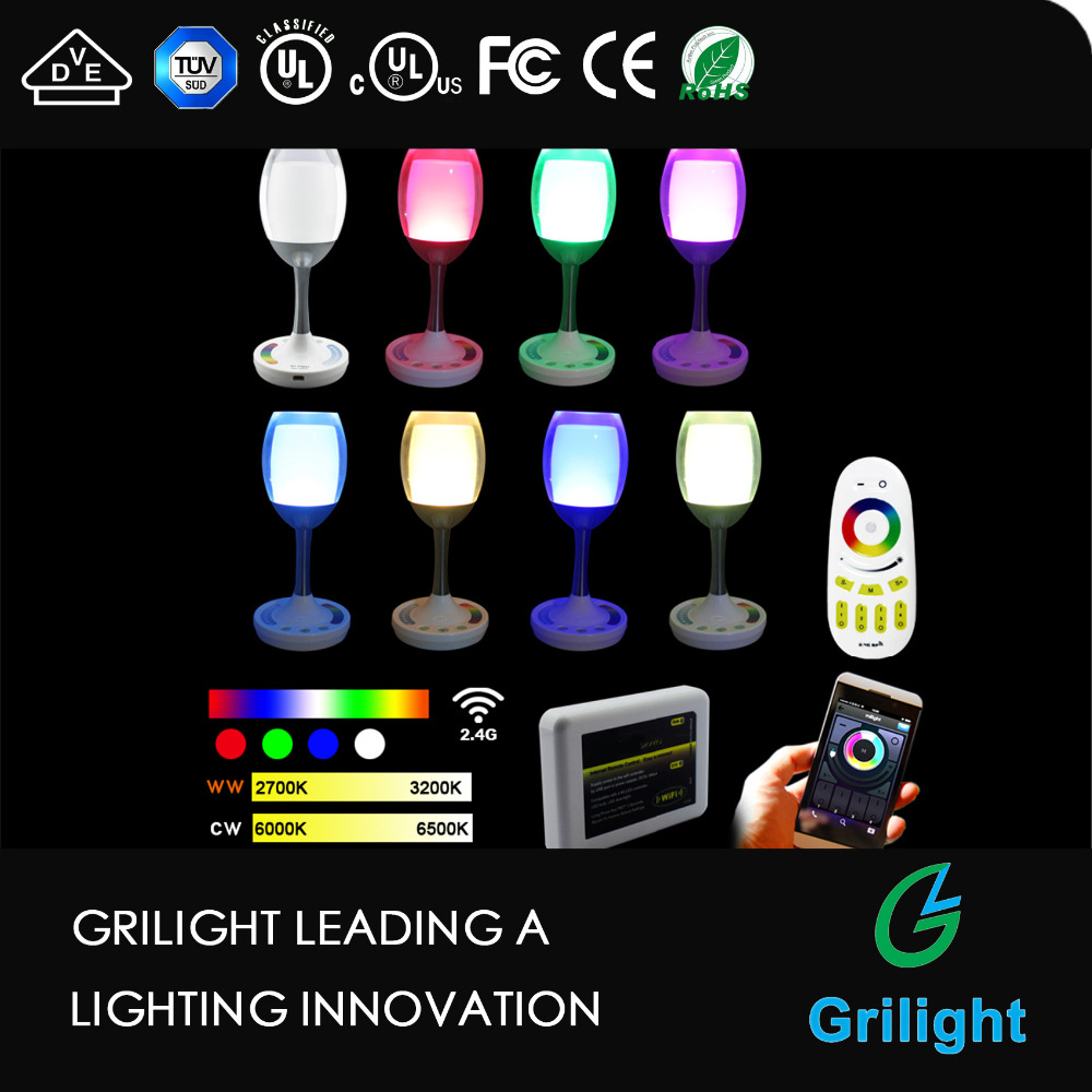 led wine light bulb app smartphone Group Controlled Dimmable Color Changing Decorative Christmas Party Lights