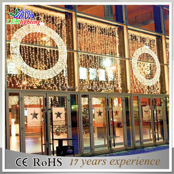 shopping mall decorative round circle christmas lights