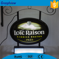 Customized advertising illuminated silk screen printing Front Shop light box