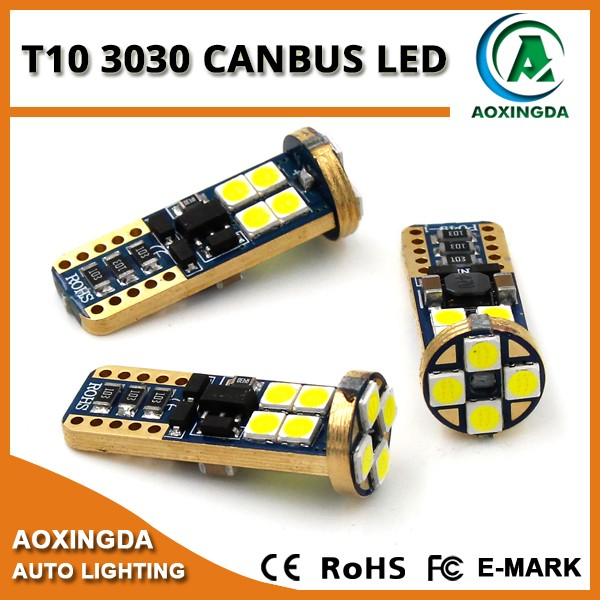 New product 2016 3030 SMD 12W canbus T10 W5W LED reading light bulb