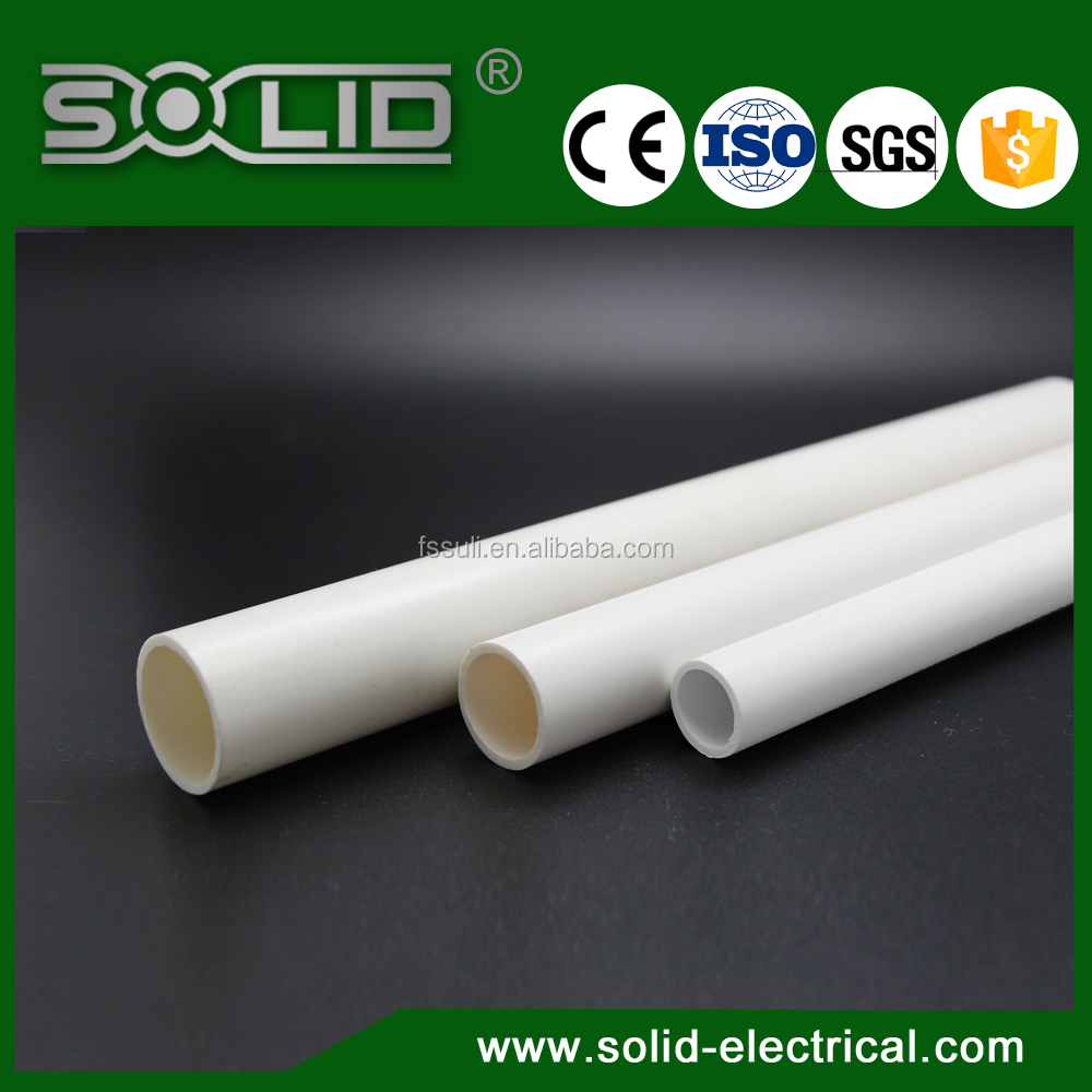 Colorful 20mm Plastic PVC Electrical Conduit/UPVC electrical conduit