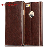 first layer cow leather case for iphone 6, for iphone 6 mobile phone cover