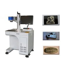 High precision mini 10w 20w 30w 50w cheap fiber laser metal marking machine for dog tag engraving