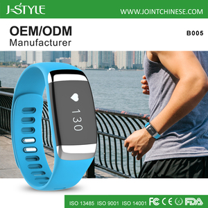 J-style BSCI Factory Digital Sports Band TPU Wristband Heart Rate Monitor with ECG Free App Smart Wearable Devices