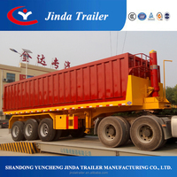 2015 Jinda top ranking 2 or 3 axles 20-60CBM tipper trailer / rear end dump truck semi trailer