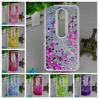Luxury Glitter Star Liquid Quicksand Phone Case Cover For Motorola Moto G3 3rd Gen Back Case