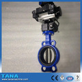 wafer cast iron rubber lining butterfly valve